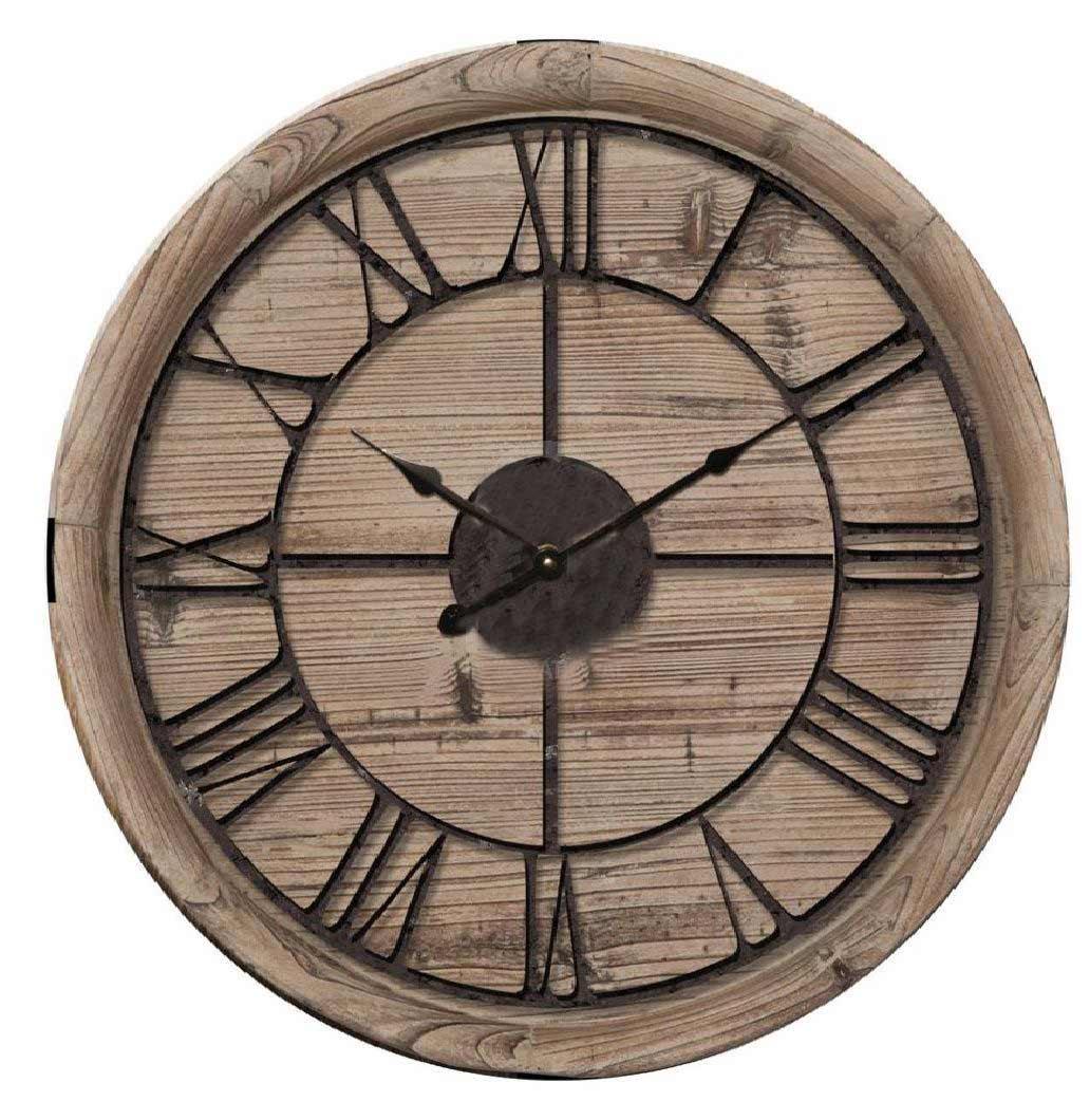 Orologio legno e metallo RE-146858 diam60cm €89