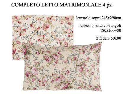 Completo letto Blanc Mariclò linea Infinity A2543299BG cotone €99