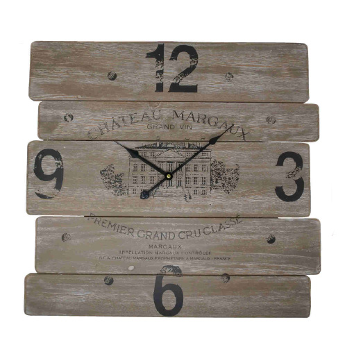 Orologio legno country Nuvole di Stoffa HLC19501 54x54cm €45