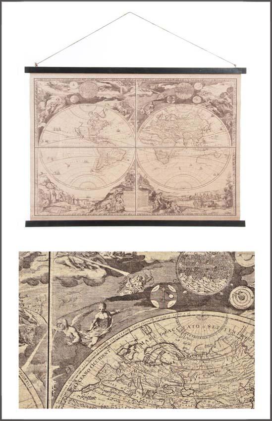 Stampa su tela carta geografica in italiano CU-154105A 105x65h €39