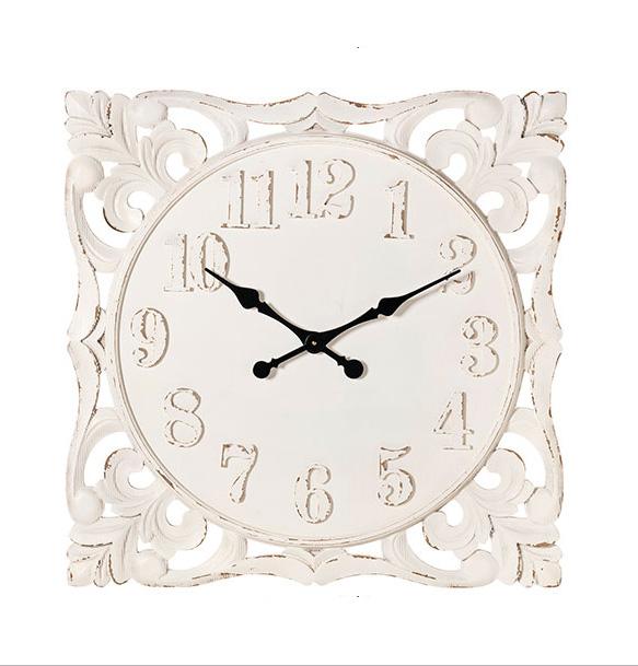 Orologio intagliato L'Arte di Nacchi art TR-33 76x4x76h €195