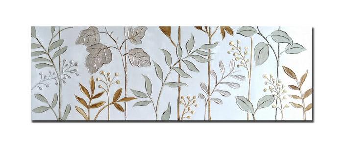 Quadro dipinto oro e argento 17-BD1701 50x150h €69