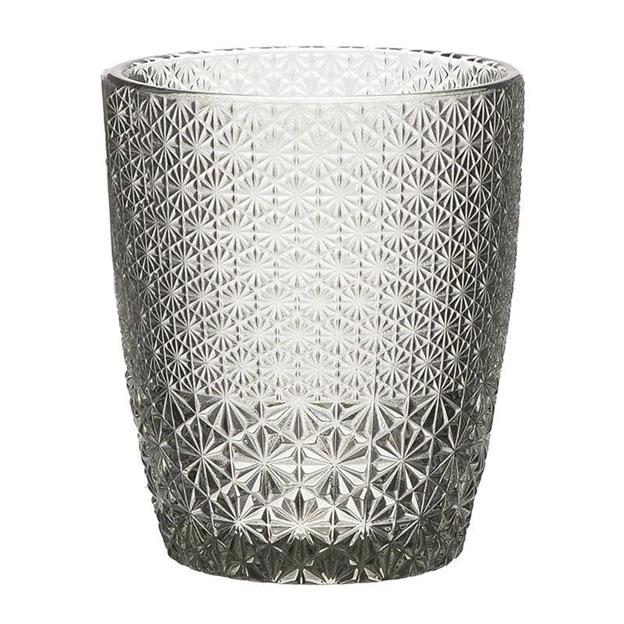 Servizio bicchieri vetro fumé 6pz art 3-60-621-0001 diam8x10h €35