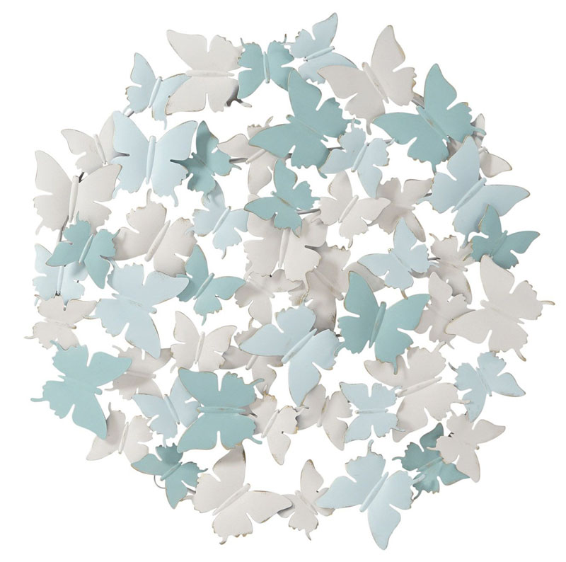 Pannello ferro farfalle art DP-178352 diam70cm €99