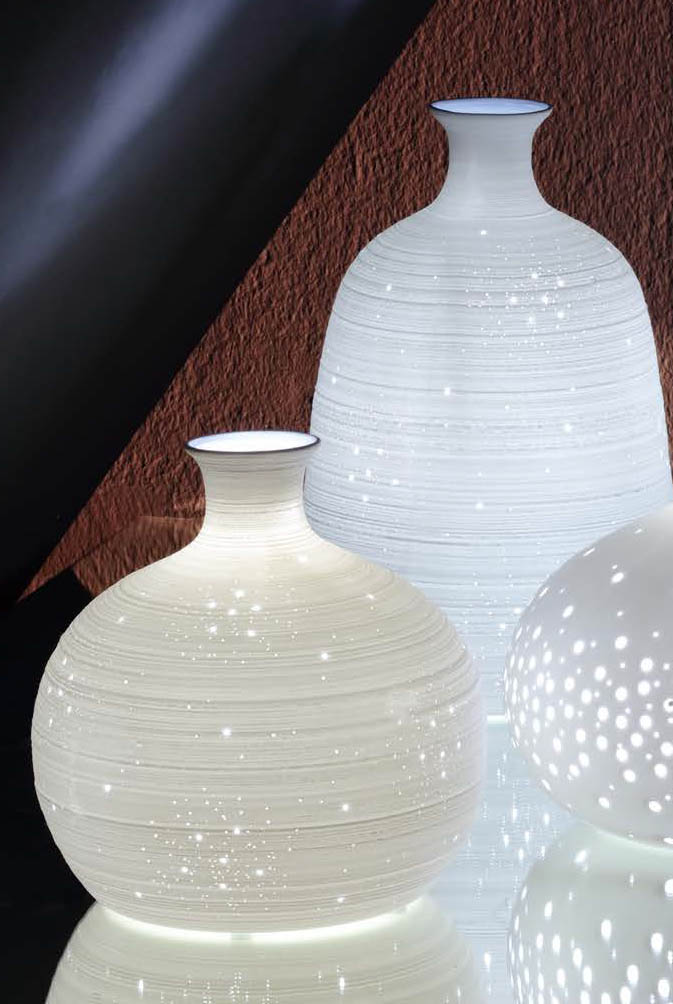 Lampada da tavolo ceramica art 06160190 diam19x30h €79