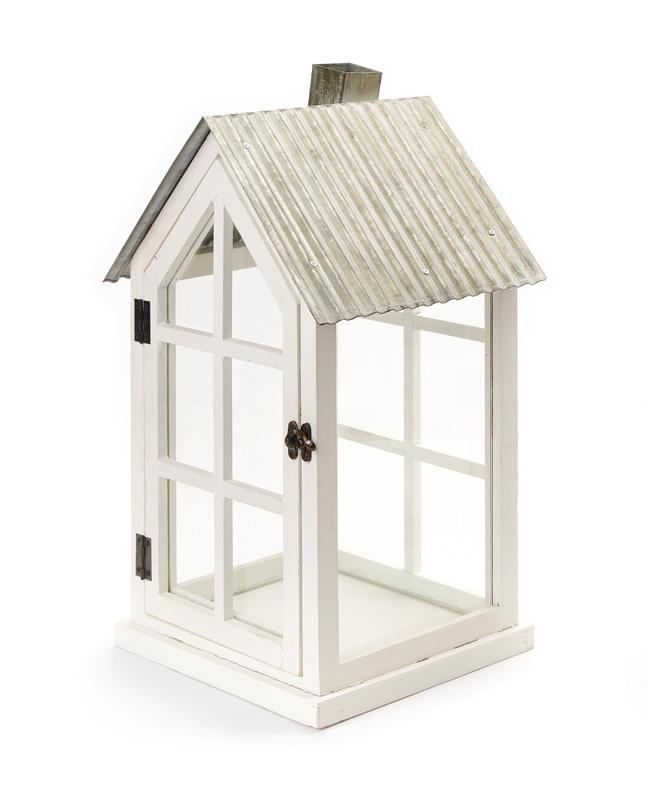 Lanterna casetta legno Nuvole di Stoffa art JLS20120A h63cm €49