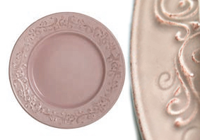 Piatto piano rosa cipria linea Giulietta set 6 pz art 895001026 €69