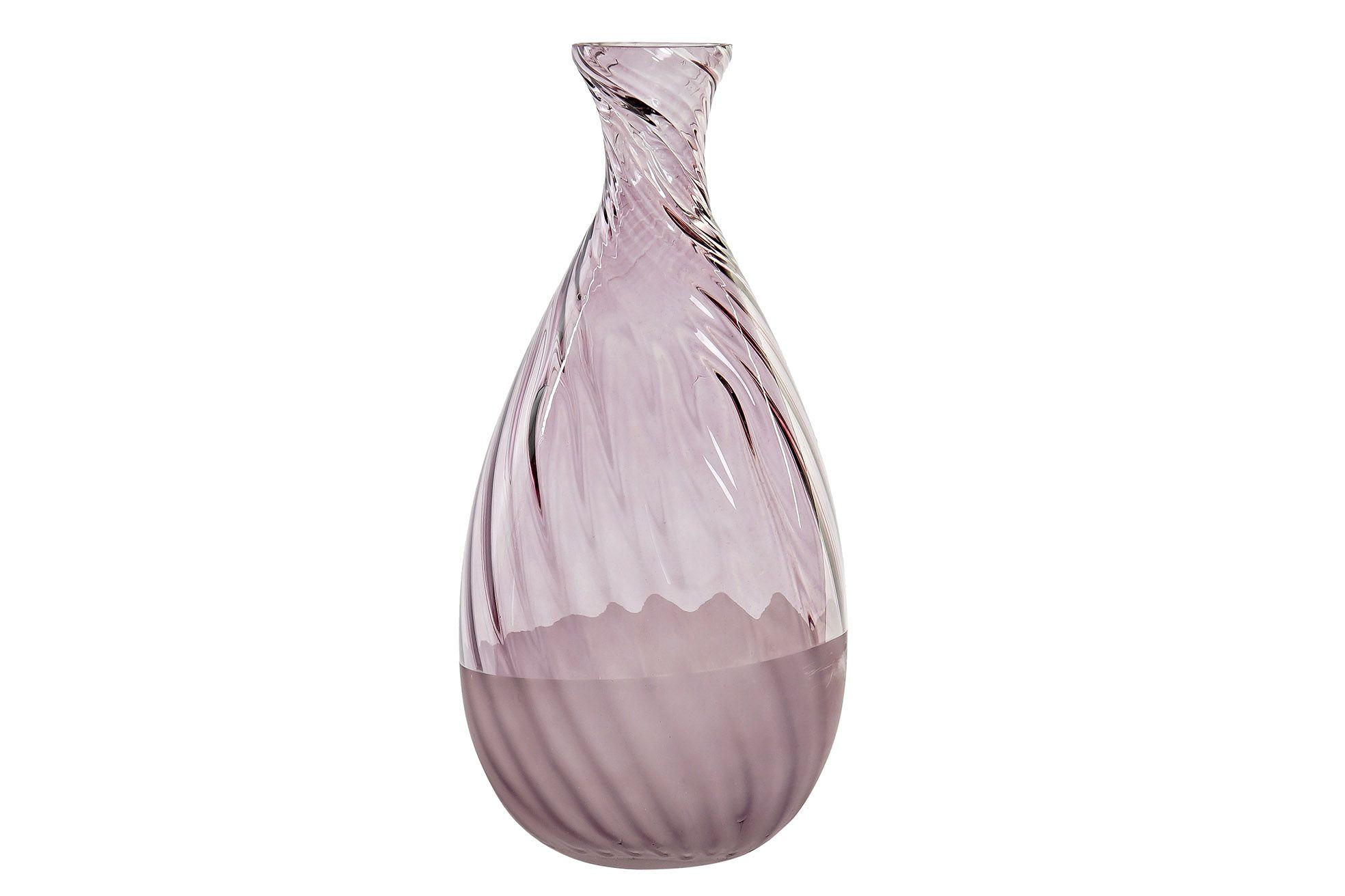 Vaso vetro rosa art JV-170786 diam17x34h €35