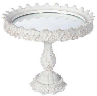 Alzatina resina con specchio Coccole di Casa art KL96931 diam23x19h €49