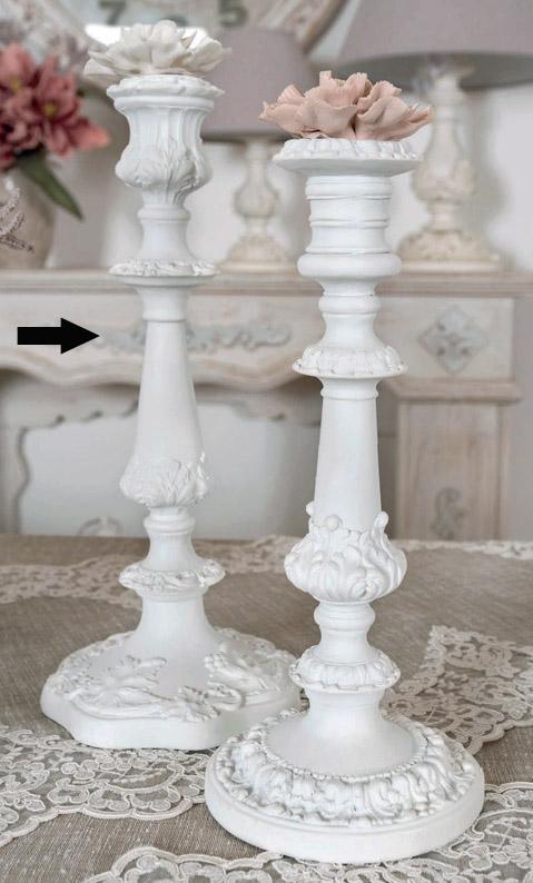 Candeliere resina Coccole di Casa art DD20283 diam15x33h €59
