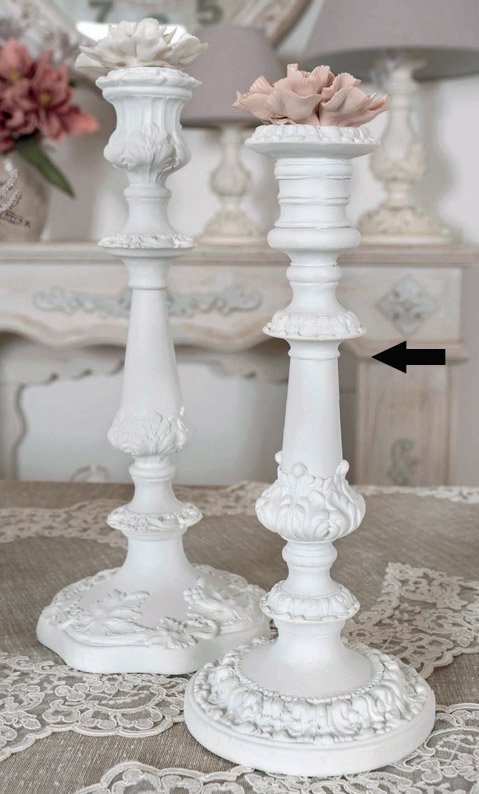 Candeliere resina Coccole di Casa art DD20284 diam12,5x29h €49